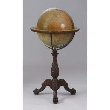 W. & A.K. Johnston Globe on Carved Base