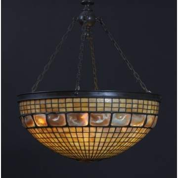 Sgn. Tiffany Studios, NY, Turtleback Chandelier