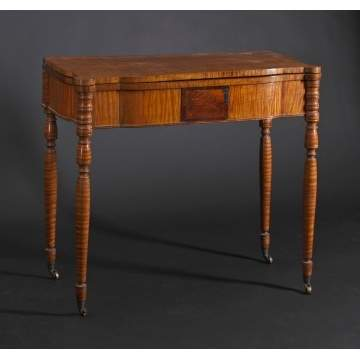 Sheraton Tiger Maple Card Table