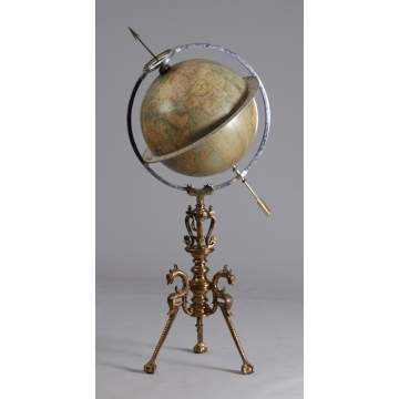 Juvet Time Globe Floor Model Clock