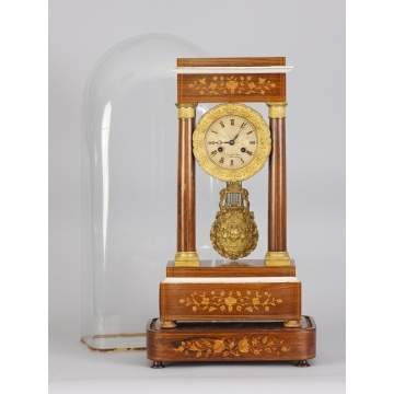 French Portico Clock
