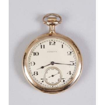 Hamilton, Lancaster, PA, Gold Plated Pocket Watch