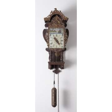 Single Hand Dutch Lantern Clock with Alarm
