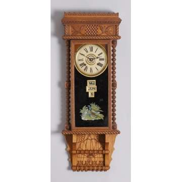 Gilbert Clock Co. Berkshire Calendar Clock