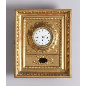 French Picture Frame Gilt Clock