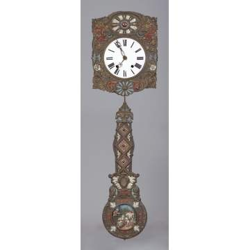 French Morbier Wall Clock