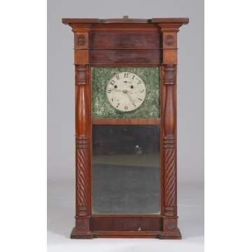 Asa Munger, Auburn, NY, Flat Ironing Board Top Shelf Clock