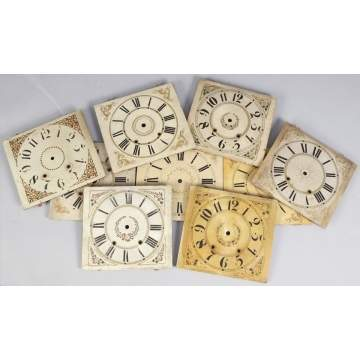 Group of 9 Painted Wood Dials