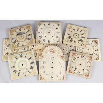 Group of 10 Painted Wood Dials