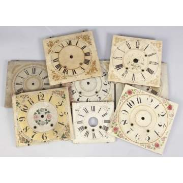Group of Painted 10 Wood Dials