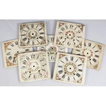 Group of 7 Painted Wood Dials