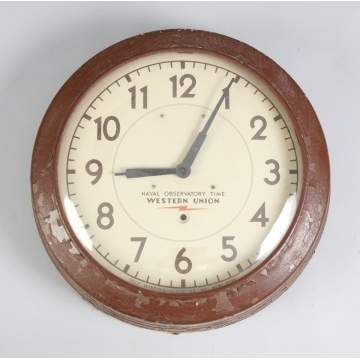 Naval Observatory Time, Western Union Electric Wall Clock