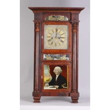 Marshall & Adams, Seneca Falls, NY Empire Shelf Clock