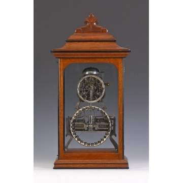 Fine Ithaca Box Skeleton Clock