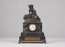 French Marble & Bronze Shelf Clock