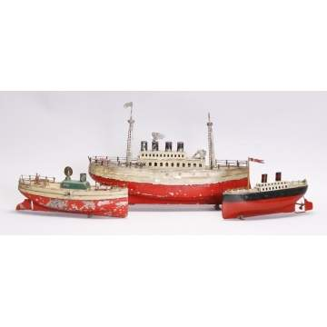 Group of Toy Boats