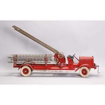 Kingsbury Toys Pressed Steel Fire Ladder Truck