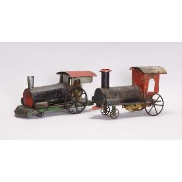 Early Tin Clockwork Locomotives
