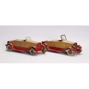 Kingsbury Pressed Steel Wind-Up Roadsters