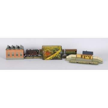 Bing Miniature Lithographed Tin Train Set