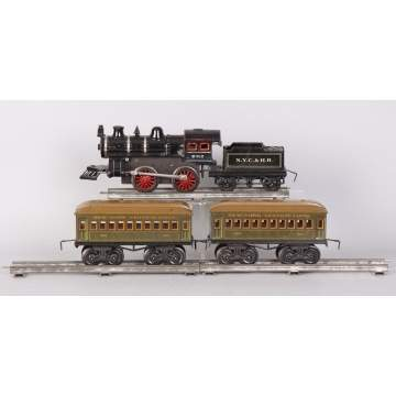 Bing Cast Iron & Lithographed Tin Clockwork Train