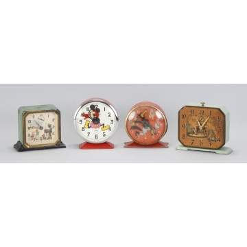 Group of 4 Clocks