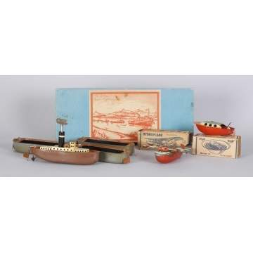 Boxed Boat Set & Pop's Tin Toys