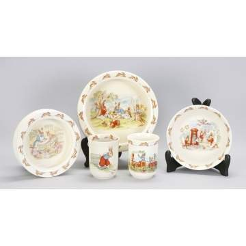 "Royal Doulton ""Bunnykins"" Children's Dishes"