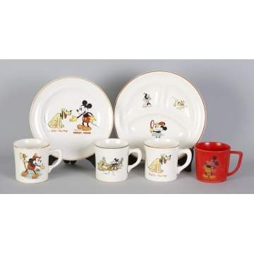 Patriot China Walt Disney Enterprises Dishes