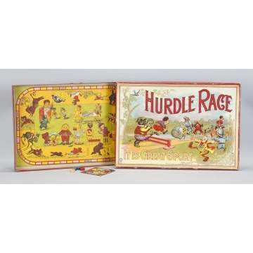 Milton Bradley Hurdle Race Game