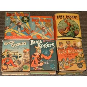 6 Buck Rogers Big Little Books