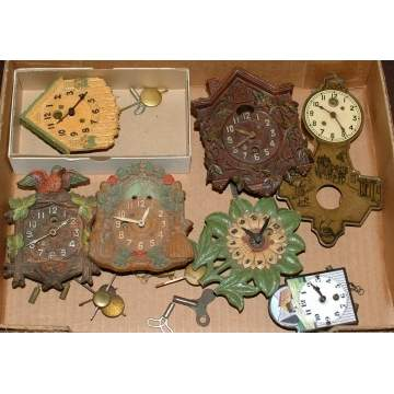 Group of 7 Lux & keebler Clocks