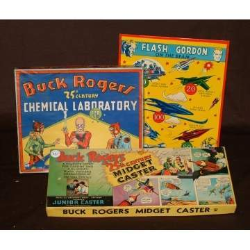 Buck Rogers Games & Flash Gordon Tin Game Board