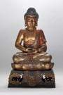 Polychrome & Gilt Bronze Buddha