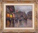Edouard Leon Cortes  (French, 1882 - 1969) Evening street scene