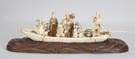 Carved Ivory Figural Group in Boat