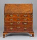 18th Century Tiger Maple Chippendale Drop Front Desk