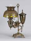 Victorian Brass Winged Griffin Single Student Lamp