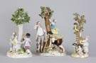 Meissen Porcelain Figural Groups