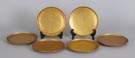 Tiffany Studios, New York, #1743, Set of 6 Gilt Bronze Plates w/Greek Key Border