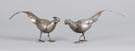 Pair of Sterling Silver Table Pheasants