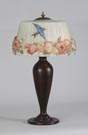 Pairpoint Puffy Hummingbird & Rose Lamp