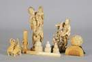 Group of Carved Oriental Figures & Accessories