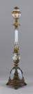 Gilt Brass & Opalescent Adjustable Floor Lamp