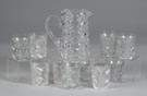 Sgn. Hawkes Cut Glass Water Pitcher & 10 Tumblers