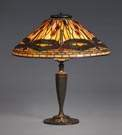 Tiffany Studios, NY, Purple Dragonfly Lamp