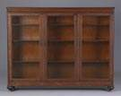 3 Door Oak Bookcase