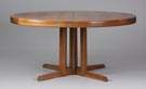 George Nakashima, Widdicomb, Walnut Dining table with 3 leaves