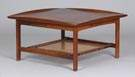 Walnut & Cane Mid Century Coffee Table