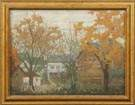 Sgn. O/C houses in autumn scene